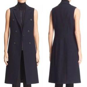 rag & bone Faye Navy Longline Wool Blend Vest 12